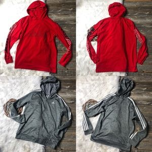 Adidas Boys XL 18-20 Lot Hoodies Tee Track Jacket